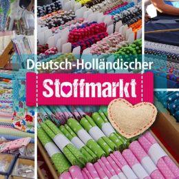 Deutsch-Holländischer Stoffmarkt auf dem Platz im MediaPark